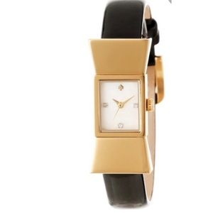 Kate Spade Black Carlyle Bow Patent Leather Watch